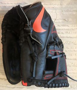 "Nike MVP Prospect BF1725-011 11"" Youth Baseball Glove-Black/Atomic Red"