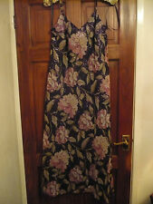 KALEIDOSCOPE LONG ROSE PRINT SPARKLE DRESS size 14 BNEW