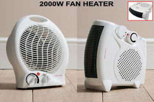 Fan Heater 2000W 2KW Portable Silent Electric Floor Upright Hot & Cold Air 2in1