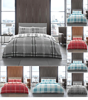 Bardsley Check Famous Tartan Duvet Cover Set Reversible Bedding Set Fitted Sheet