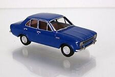 WIKING HO scale ~ 'FORD ESCORT' ~ FULLY ASSEMBLED in BLUE!