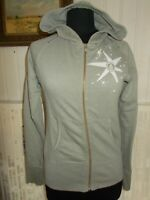 Pull sweat zip gilet coton/polyester gris à capuche VOLCOM M 36/38  imprimé