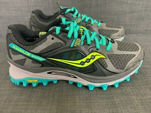 Saucony XODUS 5.0 Women's Running Shoes GRY/GRN S10250-1 Size US= 6.5,7.5, New.