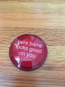 "Pure Barre Red Plastic Compact Mirror With ""Pure Barre Looks Good On You"""