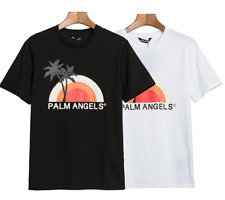 Palm Angels Sunset coconut tree print men casual Loose Short -sleeved T-shirt IT