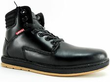 Levi's Men's Fletcher II Burnish II High Top Sneakers Black Mono Chrome Size 7 M