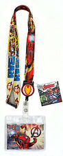 Marvel Avengers Iron Man` Lanyard with Retractable Card Holder