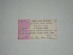 Michael McClure Paul Butterfield Tribal Stomp Ticket Stub-1978-Greek Theatre-CA