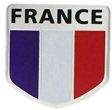 Logo Embleme France drapeau tricolore Autocollant en aluminium deco tuning