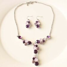 """New 16"""" Avon SHA Y Pendant Necklace Earring Vintage Women Party Holiday Jewelry"""