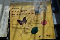 "WALTER GIESEKING   GRIEG  LYRIC PIECES    7""  EP VINYL   COLUMBIA  SEL 1693"