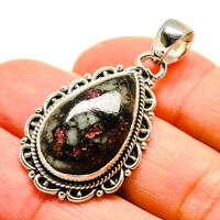 """Russian Eudialyte 925 Sterling Silver Pendant 1 1/2"""" Ana Co Jewelry P755241F"""