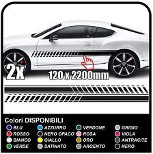 Adesivi laterali inversi per Auto fasce adesive Laterali UNIVERSALI DTM RACING