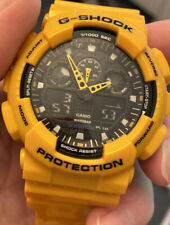 G Shock Watch Yellow Fully Rubber Analog And Digital