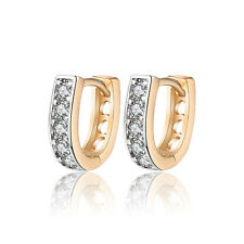 18 k Gold Plated Jewellery Small Baby Girls Classic Hoops First Earrings E961