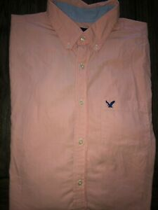 Mens American Eagle Classic Fit Long Sleeve Lightweight Button Up Shirt Large