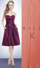 Bill Levkoff Bridesmaid Dress 172 Prom Wedding Short Gown SATIN Strapless NEW