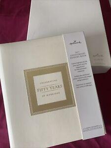 NEW Hallmark Anniversary Celebrating 50 Years Marriage Memory Photo Book GIFT