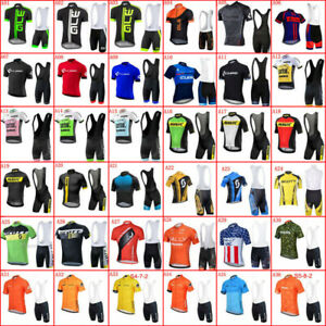 2021 Mens Cycling Jersey Bib Shorts Set Short Sleeve Racing Clothing Bike Outfit