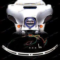 LED Illuminated Windshield Trim For Harley Touring Street Glide FLHX 14 15 16 17
