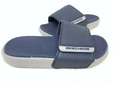 NEW! Skechers Men's GAMBIX 2.0 Comfort Slide Sandals Navy/Gray #51729 192P z