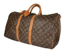 LOUIS VUITTON Keepall 50 Monogram Canvas Leather Boston Bag LH3539