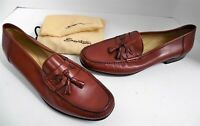 New Santorini 14 D Addison Brown Leather Dress Loafers Italy