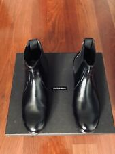 Brand New Dolce & Gabbana Mens black leather Boots Size 7
