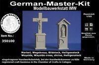 350100- 1:35, Marterl, Wegekreuz, Bildstock Resin Rohling, Diorama Zubehör GMK