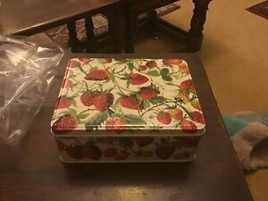Newly Launched!Emma Bridgewater Strawberries Tin , 20x15.5x7.5cms