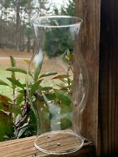 """Clear Glass Hurricane Shade Dome Globe Oil Lamp Or Candle Holder 8 3/8"""" Tall"""