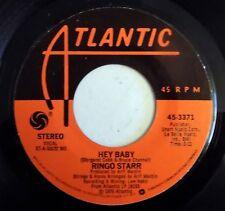 """Ringo Starr - Hey Baby - 1976 - USA - 7"""" Single - Atlantic Sleeve - New"""