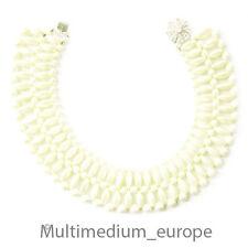 Modeschmuck Halskette Wachsperlen 50er Jahre