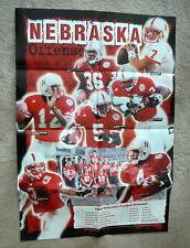 NEBRASKA CORNHUSKERS FOOTBALL 1999 OFFICIAL SCHEDULE POSTER - OFFENSE 22x32 - NM