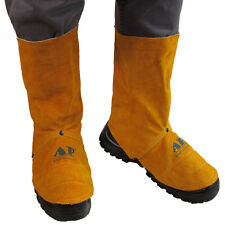 """AP-9400 Pairs 9"""" FR Cowleather Welding Leggings and Spats Gaiter Shoe Protector"""