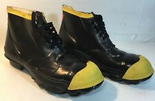LEHIGH SAFETY SHOE CO. RUBBER LOW TOP SAFETY SHOES STEEL TOE SIZE 8 ANSI