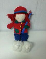 """1997 Plush Eden Madeline Winter Skiing Doll 20"""""""