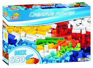 New COBI Creative Power Block Set 650 Mixed Building Blocks Toy Set #20651 Brick