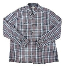 Carbon 2 Cobalt Men's Check Plaid Button Front Shirt Size Large Metal Button