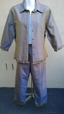 Geoff Bade Australia Women's Suit 100% silk Size 12 New