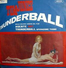 """OST 007 THUNDERBALL ( CONNERY ) 7"""" OPERAZIONE TUONO  ITALY 1966"""