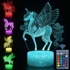 3D LED Nachtlichter Pferd Muster Base Lampe Fernbedienung Für Kinder Geschenk