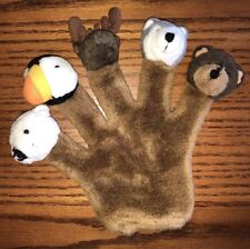 Arctic Circle Plush Puppet Hand Glove Finger Moose Puffin Wolf Polar Brown Bear