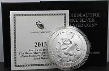 2013 America The Beautiful 5oz Mount Rushmore National Memorial Silver Coin .999
