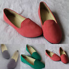 Womens Lady Boat Shoes Casual Flat Ballet Slip On Flats Loafers Single Shoes Pop