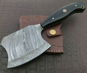 Handmade Axe-Damascus Steel Viking Axe-Camping-Outdoors-Leather Sheath-DH108
