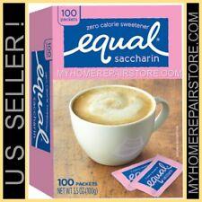 FREE S&H !— EQUAL —ZERO CALORIE SACCHARIN SWEETENER PACKS—1 BOX OF 100 PACKETS