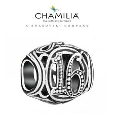 CHAMILIA 925 Sterling Silver 16th BIRTHDAY MILESTONE Charm Bead Sweet Sixteen