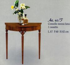Tavolino consolle mezzaluna mod.40F -  stile arte povera