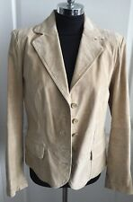 ST JOHNS BAY WASHABLE SUEDE JACKET COAT GENUINE LEATHER SOFT TAN SIZE L NEW